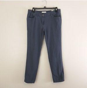 LOFT Marisa Boyfriend gray pants size 6